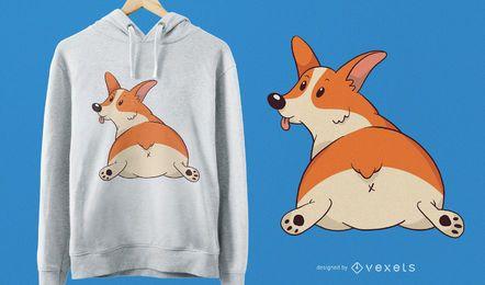 Diseño lindo de la camiseta del Corgi