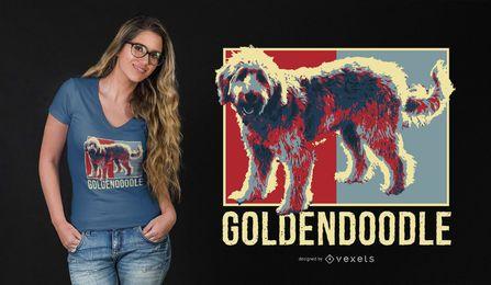Goldener Gekritzel-T-Shirt Entwurf