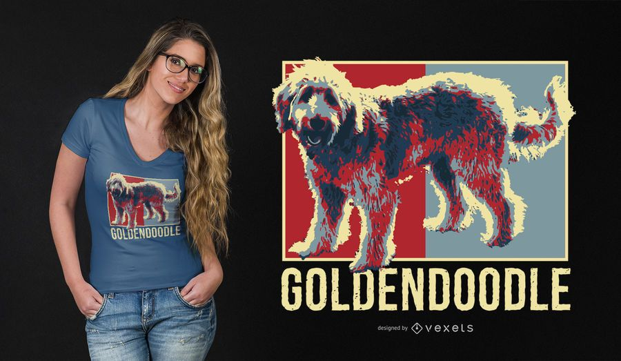Golden Doodle T-shirt Design
