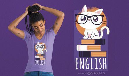 Projeto do t-shirt do gato do nerd