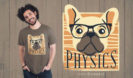 Design Nerdy do t-shirt do cão da física