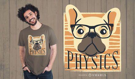 Physik-Nerdy-Hundet-shirt-Entwurf