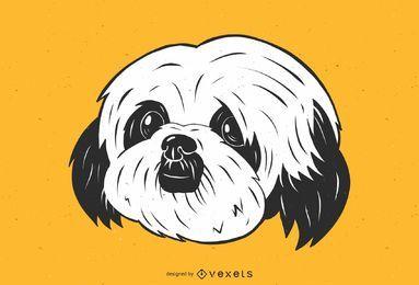 Nette Shih Tzu Hundeillustration