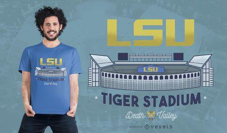 Projeto do t-shirt do estádio do tigre de LSU