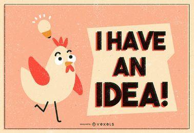 Ilustração de ideia de frango