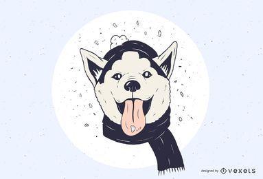 Diseño husky nevado