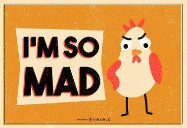 Ilustración de pollo loco