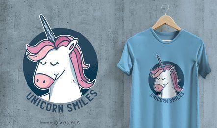 Einhorn lächelt T-Shirt Design