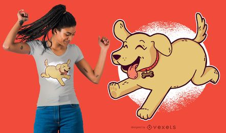 Diseño de la camiseta del perrito del golden retriever