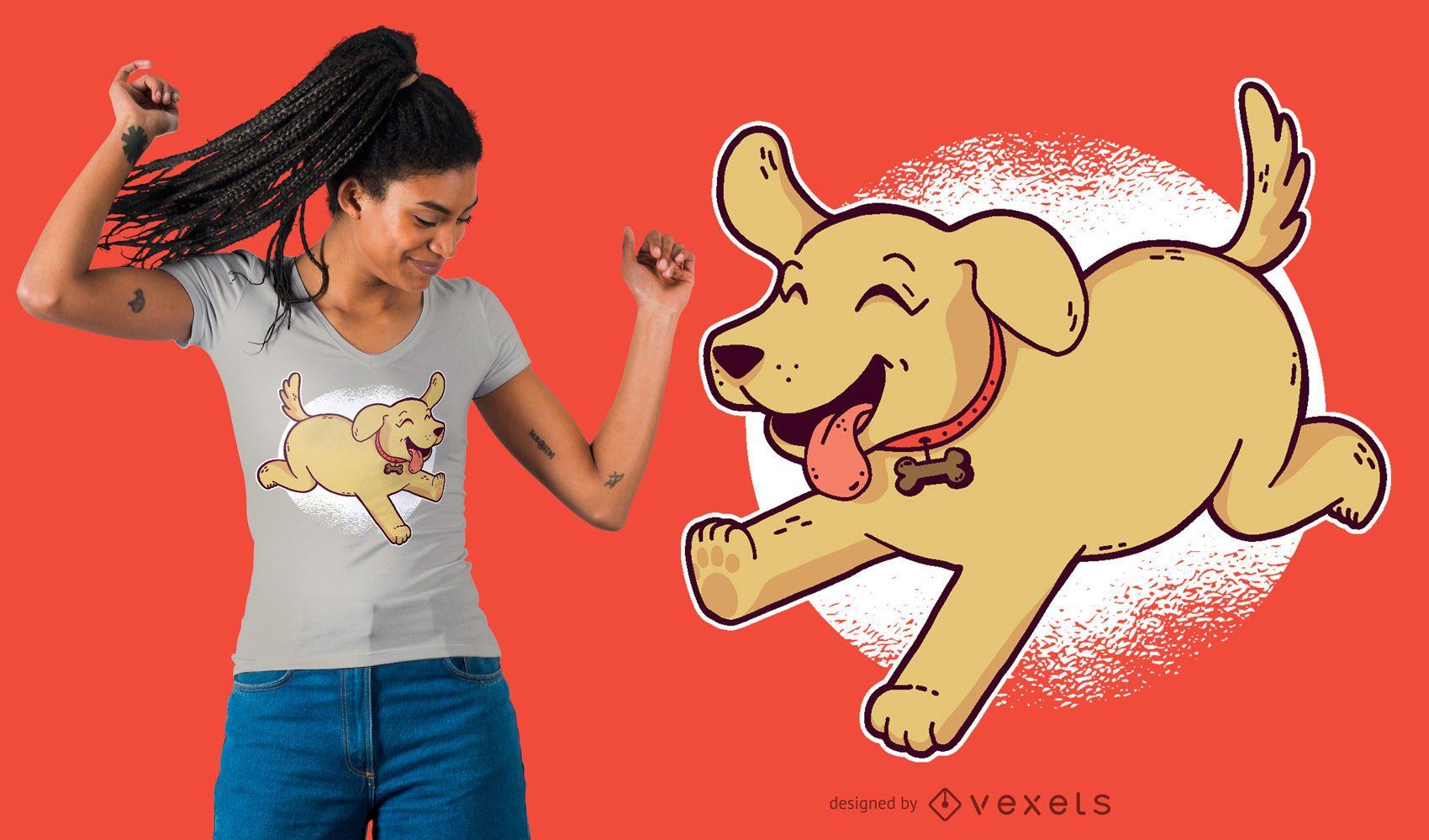 Golden Retriever Puppy T-Shirt Design