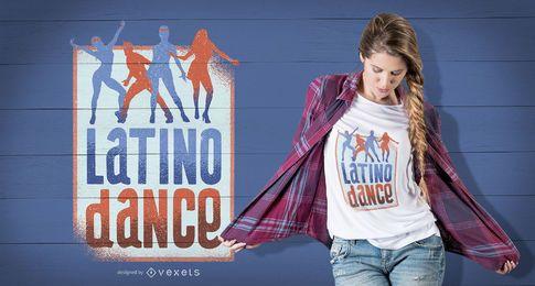 Design de t-shirt de dança latina