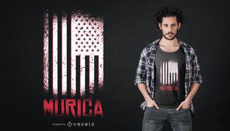 Diseño de camiseta de bandera estadounidense de murica