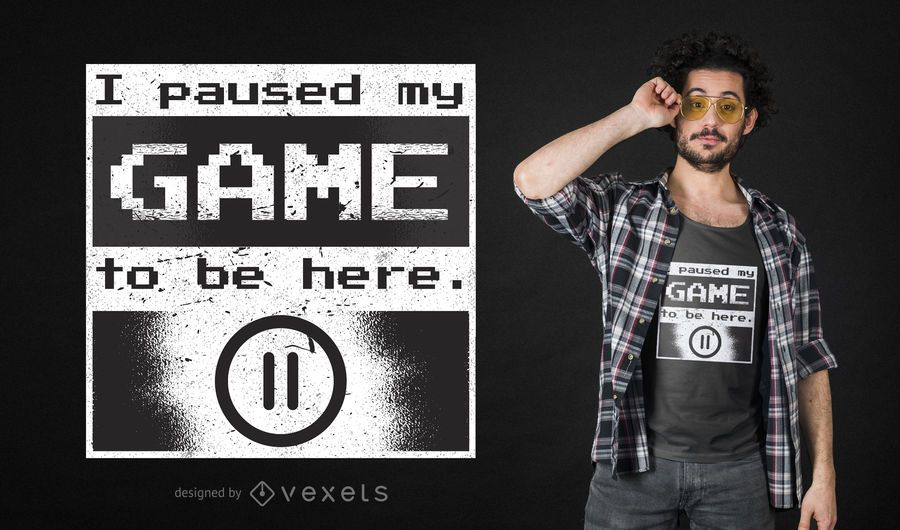 Paused Gamer T-Shirt Design