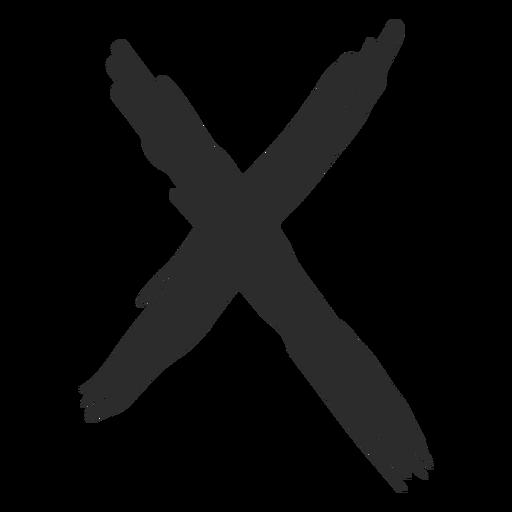 Rabisco de marca X Transparent PNG
