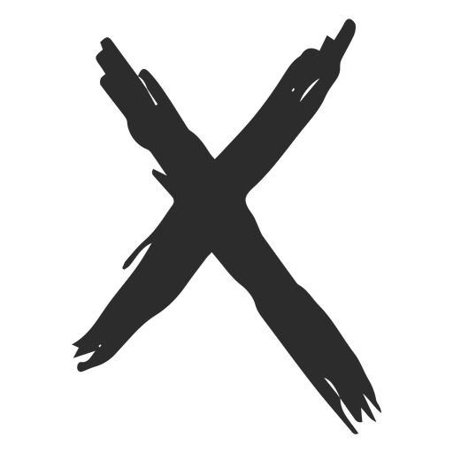 X marca garabato