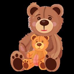 Ilustração de dois ursos de pelúcia