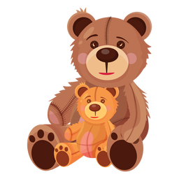 Two teddy bears illustration