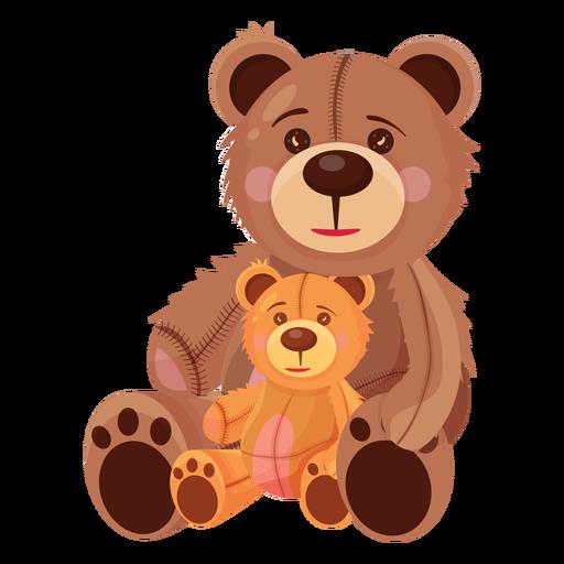 Ilustración de dos osos de peluche Transparent PNG