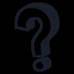Pergunta do doodle do ponto de interrogação 3d