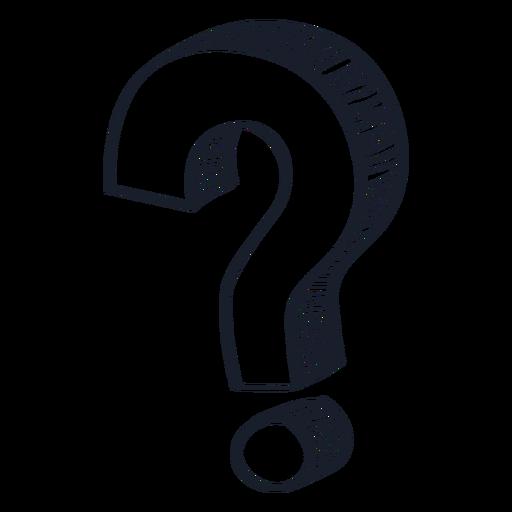 3d ponto de interrogação doodle pergunta