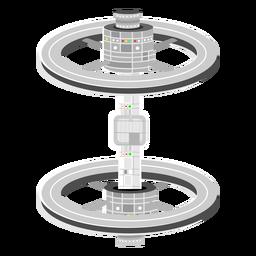 Ilustración de naves extraterrestres
