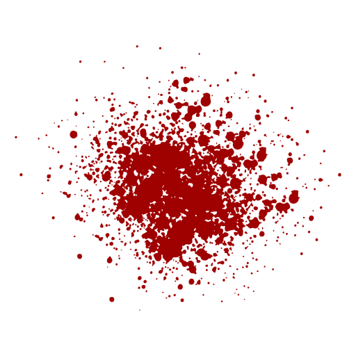 Blood splash flat Transparent PNG