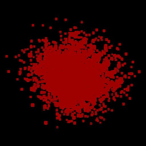 Salpicadura de sangre plana Transparent PNG