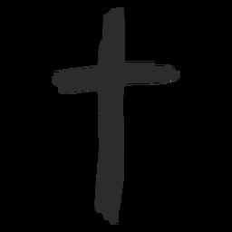 Cruz cristiana garabato