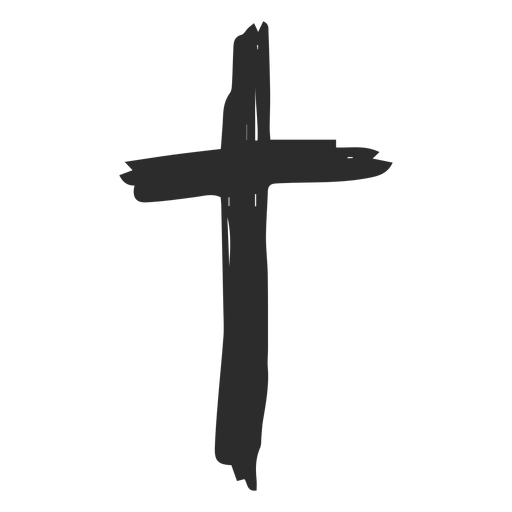 Christian cross doodle Transparent PNG