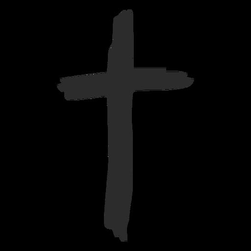 Doodle de cruz cristã