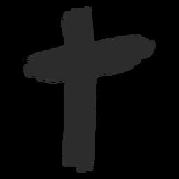 Christliches Kreuz von Hand gezeichnet