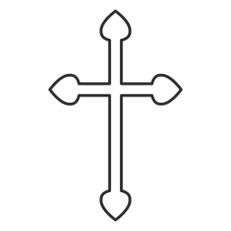 Christian cross outline