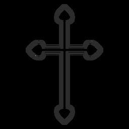 Christian cross outline