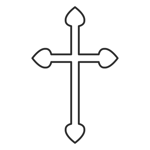 Christian cross outline Transparent PNG