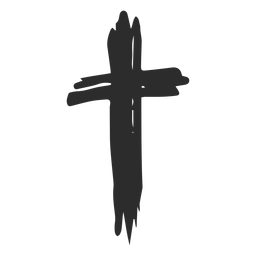Christian cross scribble