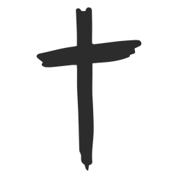 Cross hand drawn
