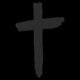 Kreuz Hand gezeichnet