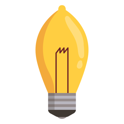 Ellipsoidal light bulb Transparent PNG