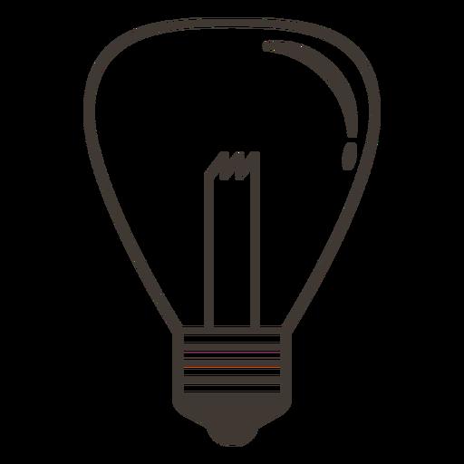 Incandescent light bulb stroke Transparent PNG