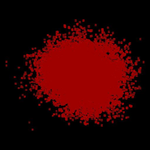 Isolated blood splash