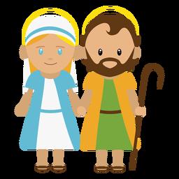 Ilustração de José e Maria