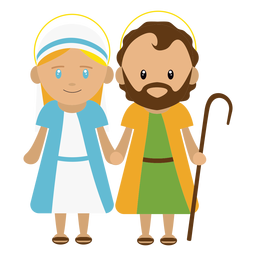 Joseph and mary illustration