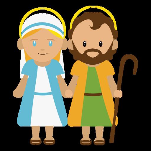 Ilustração de José e Maria Transparent PNG