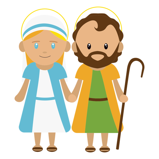 Joseph and mary illustration Transparent PNG