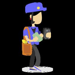 Mailwoman entregando cartas