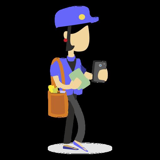 Mailwoman delivering letters Transparent PNG