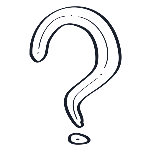 Doodle de ponto de interrogação Transparent PNG