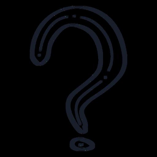 Question mark doodle Transparent PNG