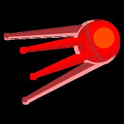Red alien spacecraft illustration