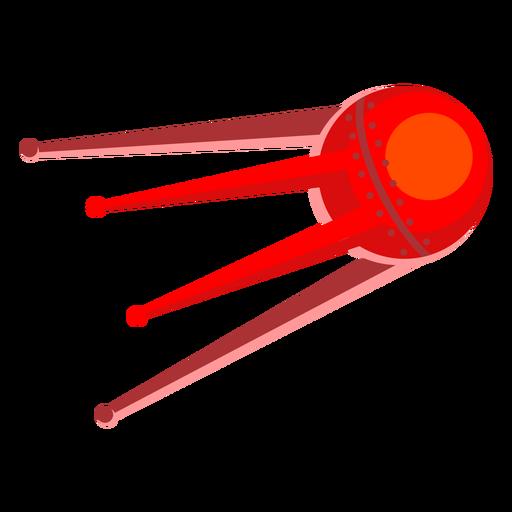 Red alien spacecraft illustration Transparent PNG